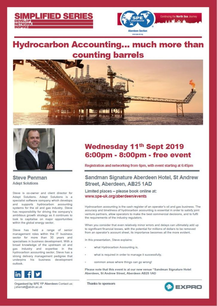 Our Client Director, Steve Penman speaking at SPE YP event this September.